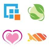 De emblemen van het bedrijf Stock Foto