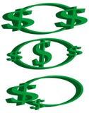 De emblemen van het dollarteken Royalty-vrije Stock Afbeelding