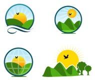 De emblemen van het landschap Royalty-vrije Stock Foto's