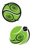 De emblemen van het tennis Stock Afbeeldingen