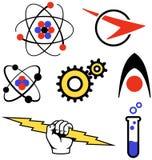 De Emblemen van jaren '50 Stock Afbeelding