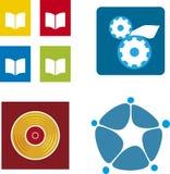 De emblemen van media (vector) vector illustratie
