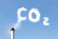 De emissies van Co2 Stock Afbeeldingen