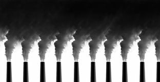 De emissies van de elektrische centrale stock foto