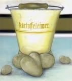 De emmer van de aardappel Royalty-vrije Stock Afbeeldingen