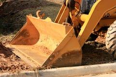 De Emmer van de bulldozer Royalty-vrije Stock Foto's
