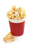 De emmer van de popcorn Royalty-vrije Stock Foto's