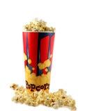 De Emmer van de popcorn stock afbeeldingen