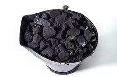De emmer van de steenkool Stock Afbeeldingen
