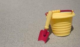 De Emmer van het zand Stock Fotografie