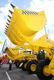 De emmers van de bulldozer Royalty-vrije Stock Afbeeldingen
