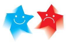 De emotie van de ster smileys - vector Royalty-vrije Stock Foto
