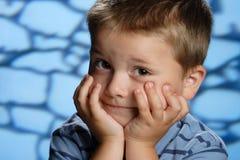 De emoties van de baby Stock Afbeeldingen
