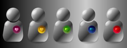 De emoties van de gebruiker Stock Afbeeldingen