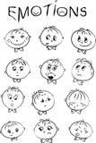 De emoties van kinderen Stock Foto