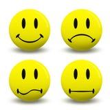 De emoties van symbolen Stock Foto's