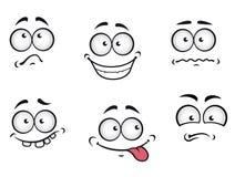 De emotiesgezichten van het beeldverhaal Royalty-vrije Stock Foto