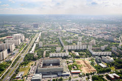 15de en 16de districten van Ostankino-district Stock Afbeelding