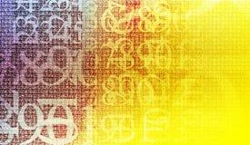 De encryptie van aantallen Stock Afbeeldingen
