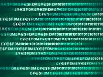 De encryptie van gegevens Stock Fotografie