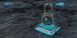 De Encryptie van de gegevenshardware royalty-vrije illustratie