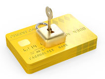 De encryptieconcept van creditcardgegevens Royalty-vrije Stock Fotografie