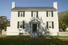 De Endviewaanplanting (circa 1769), dichtbij Yorktown Virginia, als deel van de 225ste verjaardag van de Overwinning van Yorktown Stock Afbeelding