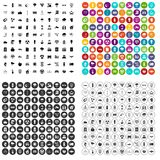 de energía solar vector fijado 100 iconos variable Fotos de archivo