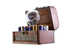 De energie van batterijen voor een idee Stock Foto