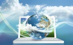 De Energie van de Gegevensverwerking van de wolk stock foto's