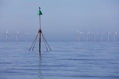 De energie van de machtseco van de wind stock afbeeldingen