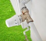 De energie van de radiatorbesparing Stock Afbeelding