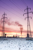 De energie van de verontreiniging en de industrieconcept Royalty-vrije Stock Foto