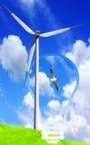 De Energie van de wind Stock Afbeelding