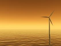 De energie van de wind Vector Illustratie