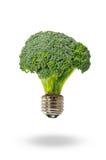 De energie van Eco met broccolilamp Stock Fotografie