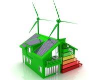 De energie van het huis - besparingsconcept Royalty-vrije Stock Afbeelding