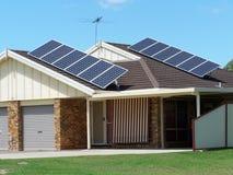 De Energie van het zonnepaneel Stock Foto's