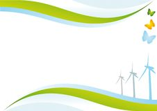 De energieachtergrond van Eco. Stock Afbeelding