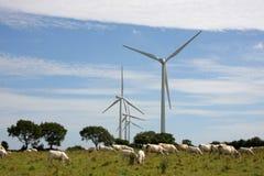 De energieinstallatie van de wind Stock Afbeeldingen