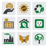De energiepictogram van de ecologie Stock Foto's