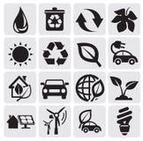 De energiepictogrammen van Eco Stock Afbeeldingen