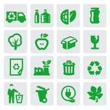 De energiepictogrammen van Eco Stock Afbeelding