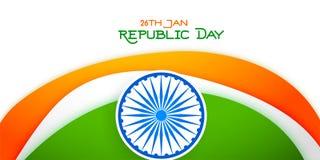 26 de enero bandera tricolora del día feliz de la república stock de ilustración