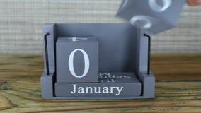 8 de enero, calendario del cubo almacen de video