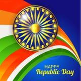 26 de enero, celebración del día de la república en la India Imagenes de archivo
