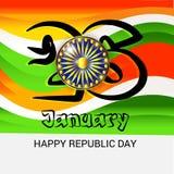 26 de enero, celebración del día de la república en la India Fotos de archivo