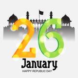 26 de enero, celebración del día de la república en la India Imagen de archivo libre de regalías