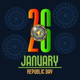 26 de enero, celebración del día de la república en la India Imagen de archivo