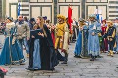 6 de enero celebración tradicional en Florencia, Italia Foto de archivo libre de regalías